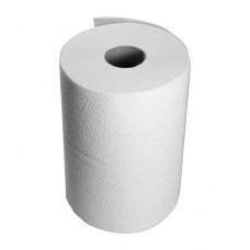 Бумажные полотенца белые двухслойные 75 м / 6 рул.