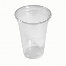 Стакан РЕТ для лимонада и мороженого Петруцалек Прозрачный Диаметр - 9,5 см 800 шт/уп (1024558)