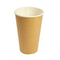Стакан бумажный крафтовый однослойный Петруцалек  CUP 250С Коричневый 250 мл 1000 шт/уп (1029429)
