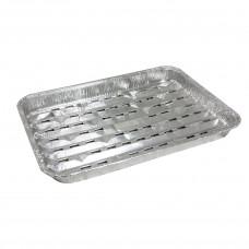 Алюминиевый контейнер для гриля Петруцалек Серебристый 266x191x23 мм 500 шт/уп (1030909)