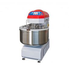 Спиральная тестомесильная машина Salva серый с красным