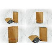 Крафт-пакеты дой-пак с застежкой ZIP, с дегазирующим клапаном и алюминиевым покрытием внутри (1)